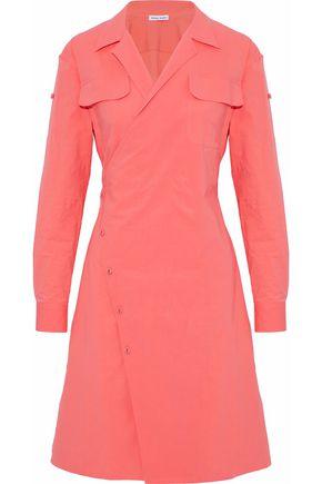 TOMAS MAIER Cotton-blend poplin wrap dress