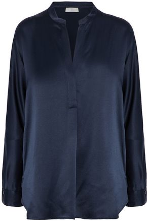VINCE. Silk-satin blouse