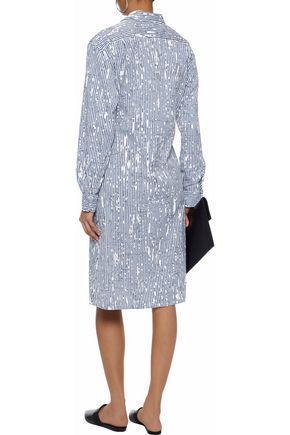TOMAS MAIER Printed cotton-blend poplin dress