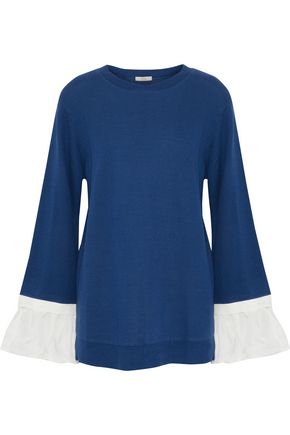 CLU Twill-paneled terry top