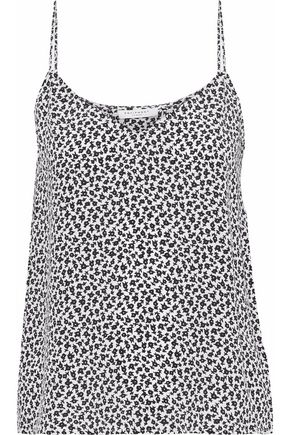 EQUIPMENT Printed washed-silk camisole