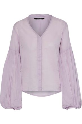 W118 by WALTER BAKER Nanielle cotton-voile blouse