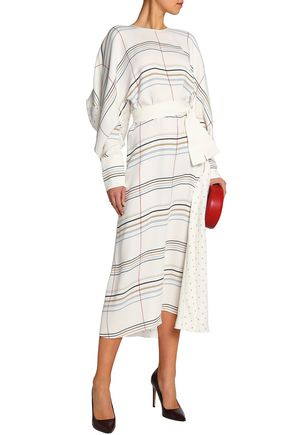 ROKSANDA Printed silk midi dress