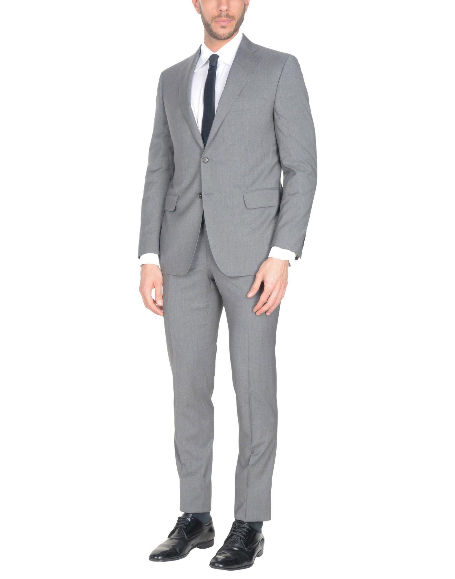 《送料無料》STELL BAYREM メンズ スーツ グレー 48 スーパー130 ウール 100%