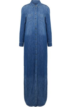EQUIPMENT Brett denim maxi shirt dress