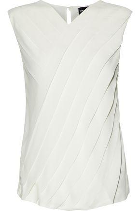 GIORGIO ARMANI Pleated silk crepe de chine blouse