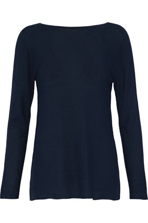 WOMAN SILK SWEATER NAVY