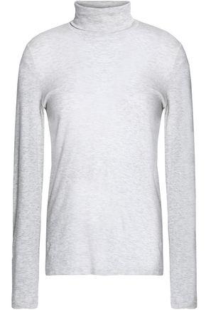 PETIT BATEAU Mélange cotton-jersey turtleneck top