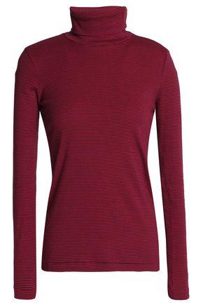 PETIT BATEAU Striped cotton-jersey turtleneck top
