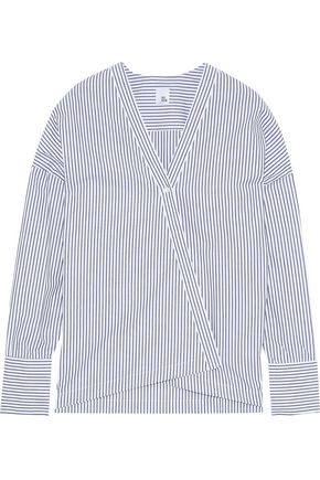 IRIS & INK Rome striped cotton-poplin top