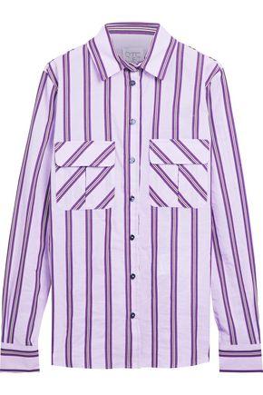 STELLA JEAN Striped cotton-blend shirt