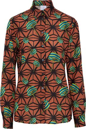 STELLA JEAN Printed piqué shirt
