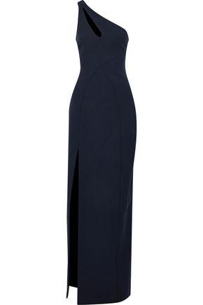 CINQ A SEPT | Cinq À Sept Woman Gianna One-shoulder Cutout Cady Gown Midnight Blue | Goxip