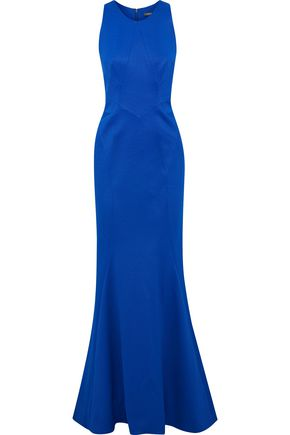 ZAC POSEN Fluted woven gown