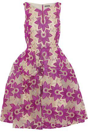 ZAC POSEN Flared brocade dress