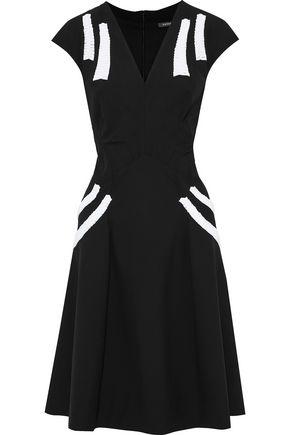 ZAC POSEN Two-tone cady dress
