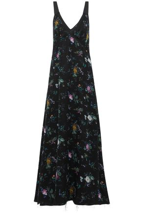 R13 Floral-print silk crepe de chine maxi dress
