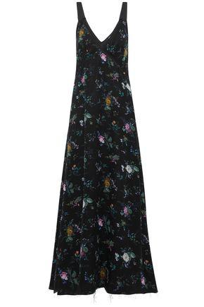 R13 Floral-print silk crepe de chine maxi dress