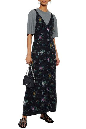 floral-print-silk-crepe-de-chine-maxi-dress by r13