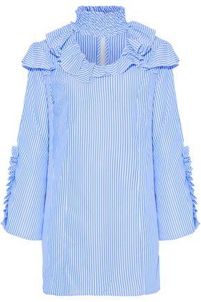 W118 by WALTER BAKER Ahjay ruffle-trimmed striped poplin mini dress