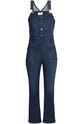 FRAME Cropped denim overalls
