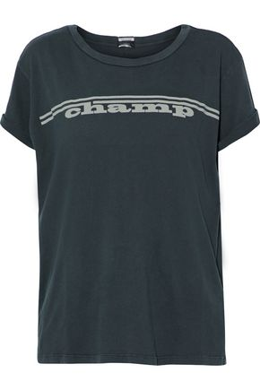 MOTHER Printed cotton-jersey T-shirt