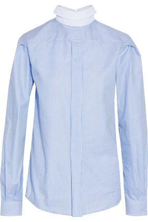 R13 Backwards Button Up striped cotton Oxford shirt