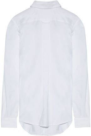 R13 Backwards Button Up cotton Oxford shirt