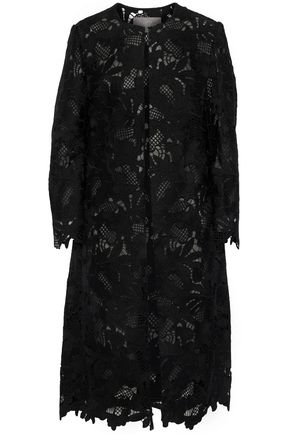 LELA ROSE Guipure lace coat
