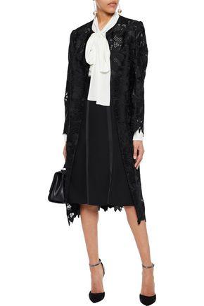 LELA ROSE Guipure lace coat