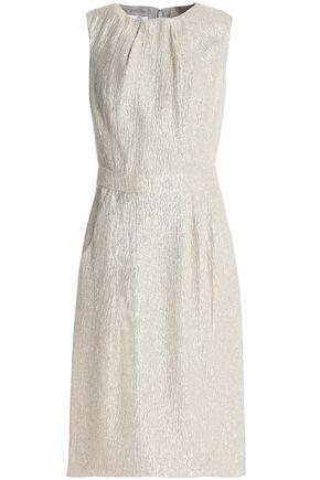 OSCAR DE LA RENTA Metallic silk-cloqué dress