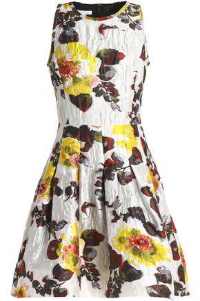 OSCAR DE LA RENTA Cloqué-brocade dress