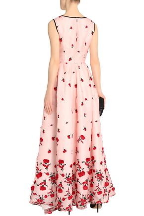 OSCAR DE LA RENTA Embroidered organza gown