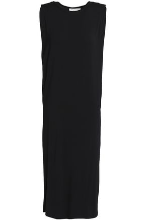 HALSTON HERITAGE Gathered stretch-modal jersey dress