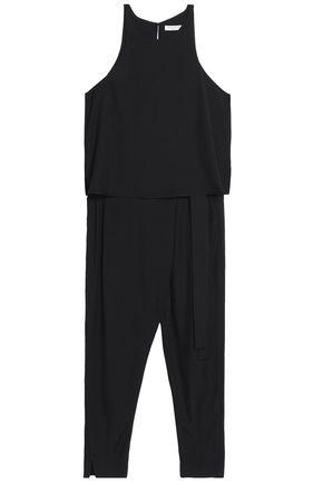 HALSTON HERITAGE Layered twill jumpsuit