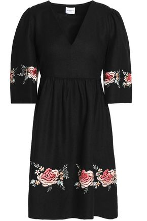 VILSHENKO Embroidered silk dress