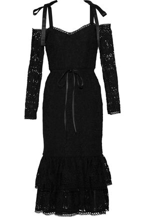 ALEXIS Maura cold-shoulder corded lace dress