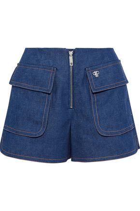 EMILIO PUCCI Zip-detailed denim shorts