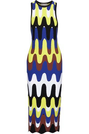 EMILIO PUCCI Runway laser-cut intarsia-knit midi dress