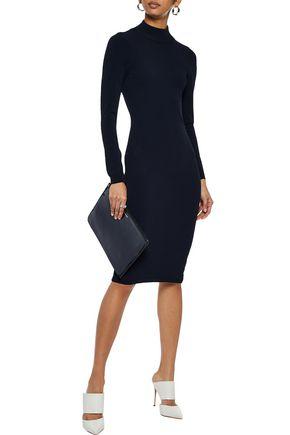 AUTUMN CASHMERE Cutout stretch-knit dress