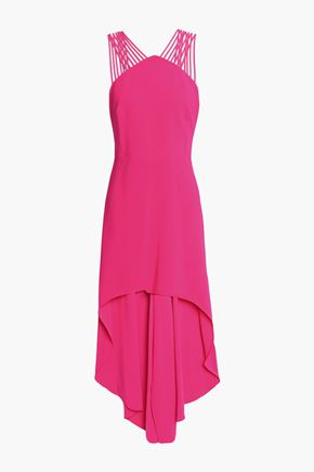 HALSTON HERITAGE Asymmetric crepe dress