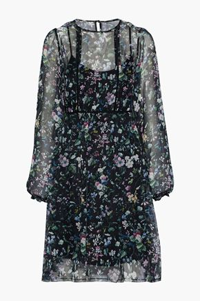 R13 Floral-print silk-chiffon dress