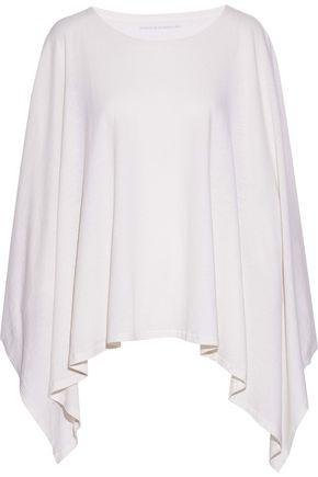 MAJESTIC FILATURES Draped cotton and cashmere-blend tunic