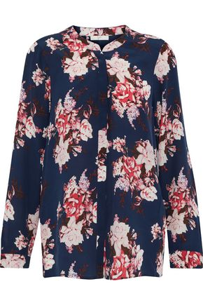 JOIE Devitri floral-print washed-silk blouse