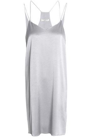 HALSTON HERITAGE Satin-crepe slip dress