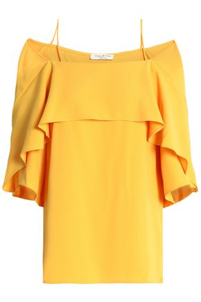 HALSTON HERITAGE Tiered crepe top