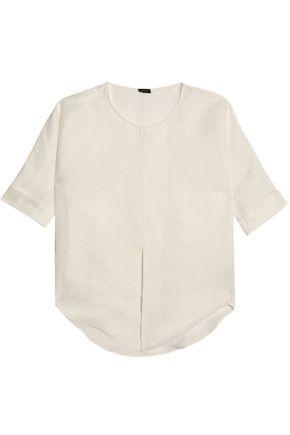 JOSEPH Linen and silk-blend tunic