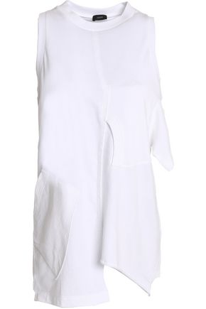 JOSEPH Asymmetric cotton-jersey top