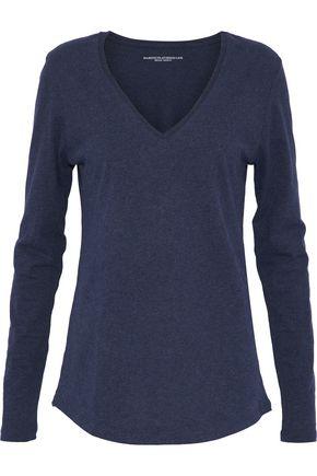MAJESTIC FILATURES Mélange cotton-jersey top