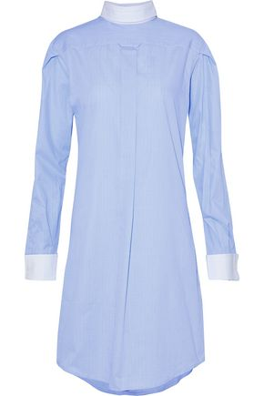 R13 Backwards checked cotton-poplin shirt dress